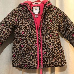 Little girls size 5t coat reversible
